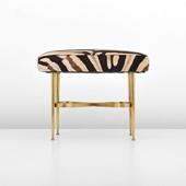 52 italian brass stool